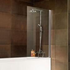 Badewannenaufsatz Duschabtrennung Duschwand Badewannenfaltwand 1-teilig 1300 mm