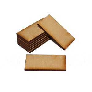 RECTANGLE 150mm x 100mm NATURAL MDF BASES for Roleplay Miniatures