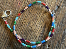 925 Sterling Silver Beaded Silpada A1076 Multi Colored Anklet