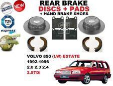 Pour Volvo 850 Ls Break 1992-1997 Frein Arrière Disques Set + Patins Kit + Shoes