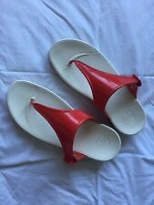 Fitflop Ladies Sandals. Red Faux Patent Leather. Size 7.