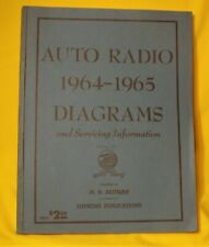 Auto Radio 1964-1965 Diagrams and Servicing Information by M.N. Beitman