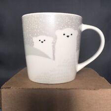 Starbucks Christmas Polar Bear Ceramic Cup 8 Oz. 2016! NWT!