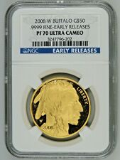 2008 W $50 Proof Gold Buffalo G$50 1oz NGC PF70 Ultra Cameo Early Releases