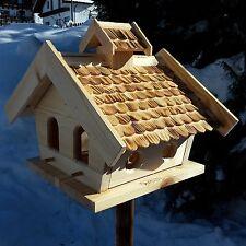 XXL Vogelhaus Putzklappe Vogelfutterhaus Vogelhäuser Holz Vogelhäuschen Natur