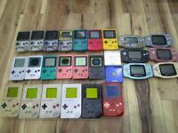 Nintendo GB x6 GBC x7 GBP x6 GBAx6 GBA SP x2 Lot Of 27 Console Junk S19