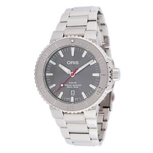 Oris 01 733 7730 4153-07 8 24 05PEB Men's Aquis Grey Automatic Watch