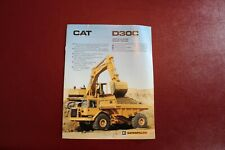 Cat Caterpillar D30C Articulated Dump Truck Dealer's Brochure Manual 1988 9 pgs