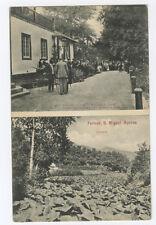 Sao Miguel Furnas e Palacio Portugal Azores Acores original old 1910s postcard