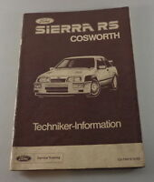 Technical Information Ford Sierra Rs Cosworth Stand 10/1985
