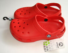 CROCS CAYMAN KIDS SANDALS GENUINE *NEW* RED UK 2 SHOES PINK GIRLS BOYS