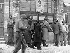 WWII Photo US Generals Taylor & McAuliffe Bastogne  WW2 B&W World War Two / 1332