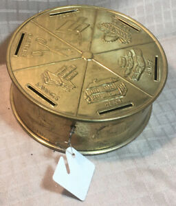 Vintage Budget Coin Bank w/Key-Made in England