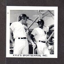 Ron Blomberg  Horace Clarke YANKEES 3-1/2 x 3-1/2 B&W ORIGINAL SNAPSHOT PHOTO 10
