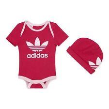 Adidas Originals Trefoil 2 Piece Bodysuit Hat Baby Gift Set Girls Boys Size 0-3m