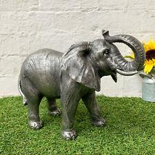 GRANDE Elefante Africano Decorazione Giardino Animale Selvatico Scultura in resina statua di Prato