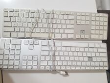 2 Apple A1243 Wired Keyboard with Numeric Keypad  FOR PARTS/REPAIR Keys Missing