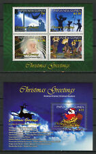 Papua New Guinea PNG 2017 MNH Christmas Greetings Nativity 4v M/S 1v S/S Stamps