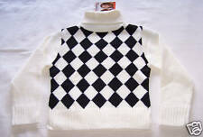 Mary Kate And Ashley Girls White Black Jumper Size 12 New