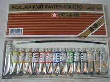 Rare Sakura Japan Mat Water Colors 15 Tubes New Vintage