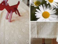 HBZ21 fabric linen tablecloth daisy natural dining kitchen table cover Placemats