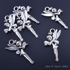 FAIRY CHARMS  -  Antique Silver Colour Plated 15 Pcs - Crafts - Jewellery Making