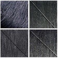 CORDON FIL Nylon/Coton 1mm -1,5- 2mm Noir/Black BRACELET Perle/Beading