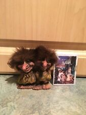 """NyForm Double Troll Doll #20 Norway Long Nose 3 1/2"""" New W/ Sealed Book Attached"""