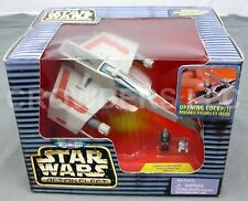 Micro Machines Star Wars  Action Fleet E-Wing Starfighter Rebel Pilot & R7 Unit