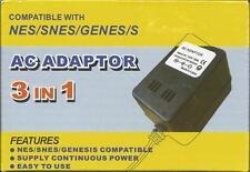 3 In 1 Power Adapter NES SNES Sega Genesis Brand New 7Z