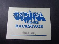 ! Billy Joel-Blue :Concert-Backstage Pass-Capitol Theatre-Nj-unused