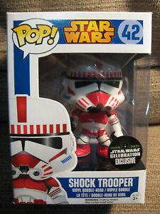 Star Wars Shock Trooper #42 Funko Pop Exclusive Celebration Sticker!