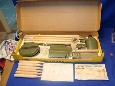 vtg MACO #987 BIVOUAC CAMP TENT SET SHOVEL ETC Boxed Playset 1960's ARMY TOY