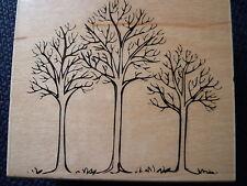 Hero Arts Rubber Stamp Three Winter Trees, K5255, New