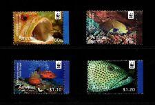 AITUTAKI - 2010 - WWF - FISH - GROUPER - TROPICAL - MARINE LIFE + MINT MNH SET!