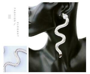 "New Snake  Silver Plated 4""  Women"