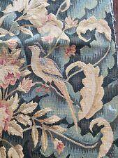 Vintage Tapisserie Carré Avec Oiseaux Et Fleurs WW334