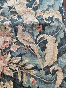 Vintage Tapestry Square with Birds and Flowers WW334