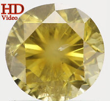 Natural Loose Diamond Yellow Greenish Color Round I1 Clarity 0.77 Ct L4958