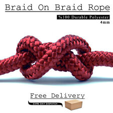 4 mm Red Extra Strong Twist Polyester Rope Polystyrene Braided Nylon Marine Cord