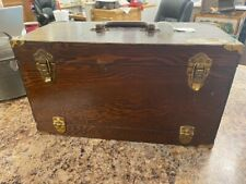 Blue Pacific Antique Wooden tackle Box