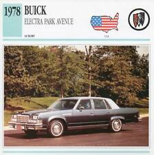 1978 BUICK ELECTRA PARK AVENUE Classic Car Photograph / Information Maxi Card