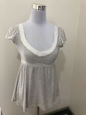 Ladies ABERCROMBIE & FITCH Striped Top. Size Small