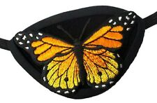 Suede Eye Patch Monarch Butterfly Gothic Steampunk Pirate Fantasy Fashion Eyepat