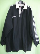 Maillot Rugby Adidas 90'S Vintage Coton Noir All Blacks Jersey - XL / XXL