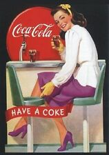 "TARGA VINTAGE ""COCA COLA DRINK"" PUBBLICITA', ADVERTISING, POSTER, BAR PLATE, PUB"