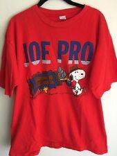 6615e75a1 Vintage XL Joe Pro Snoopy Woodstock Golf Red T-shirt Peanuts Golfer Extra  Large