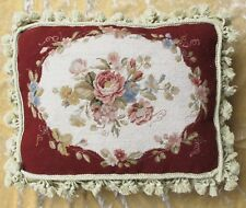 """12""""x16"""" Floral Handmade Wool Needlepoint Cushion Cover Pillow Case Free Shipping"""