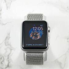 Apple Watch Series 1 38mm Silver Aluminum Case Silver Nylon Loop
