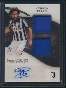 2020 Panini Immaculate Collection Auto Dual Patch Relic Andrea Pirlo 59/75